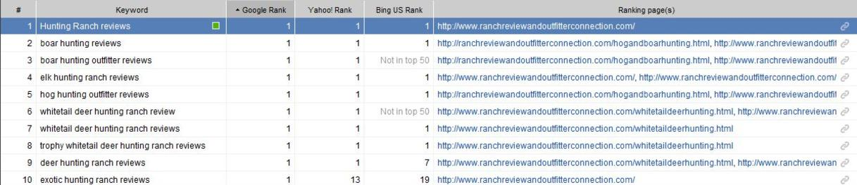 Keyword Ranking Detail