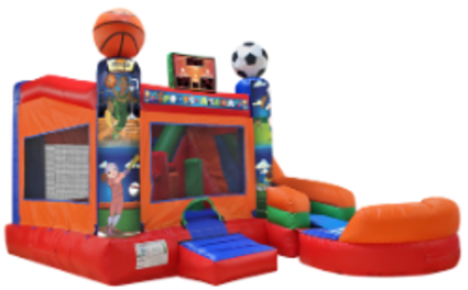 sports bounce house rental sports slide rental