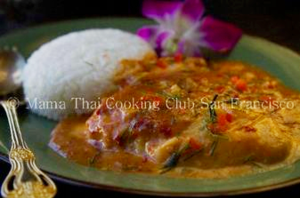red curry with cod fillet