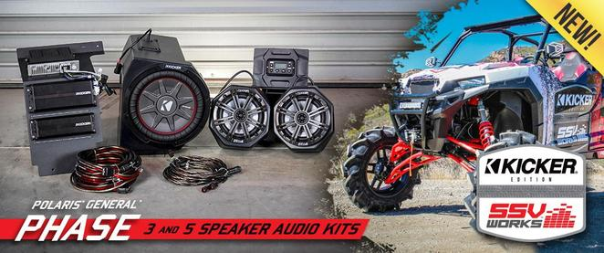 kicker side by side audio for polaris general speakers canton akron ohio