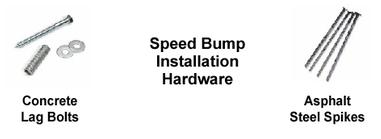 speed bump installation hardware