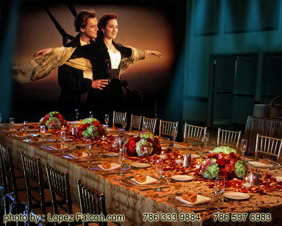 Titanic Quince Parties Theme Miami Stage Decoration Photography Ideas Centerpieces