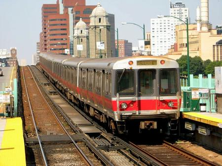 MBTA Red Line train (Boston Subway).