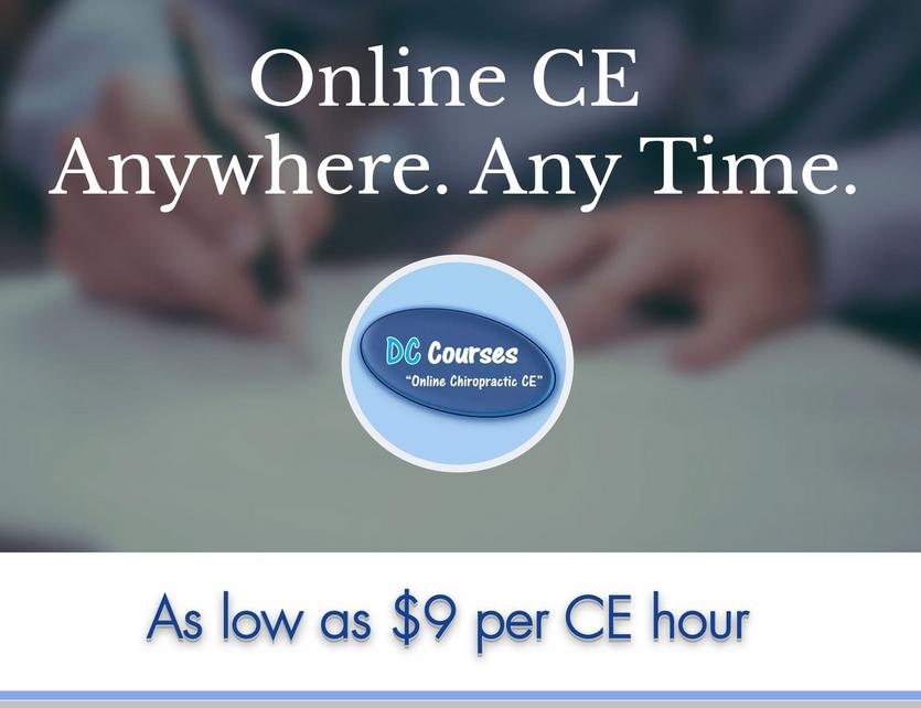 Maryland Online Chiropractic CE seminars internet continuing education hours for chiro credits courses