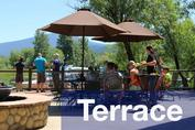 Outdoor Eating Terrace at Harriman Springs