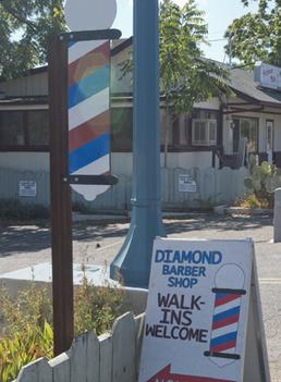 Diamond BarberShop Sign