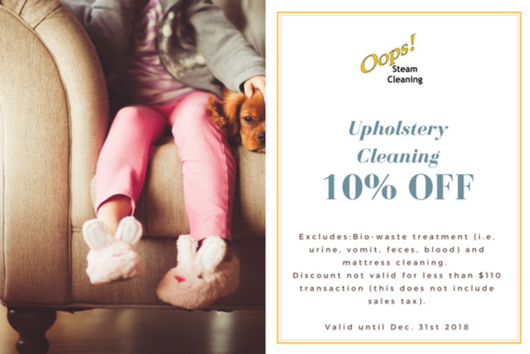 upholstery cleaning coupon of a 10 percent discount on any upholstered furniture, coupon linked to upholstery cleaning