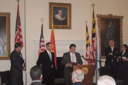 Maryland Tax Attorney being Honored by Maryland's Governor and Prime Minister of Montenegro