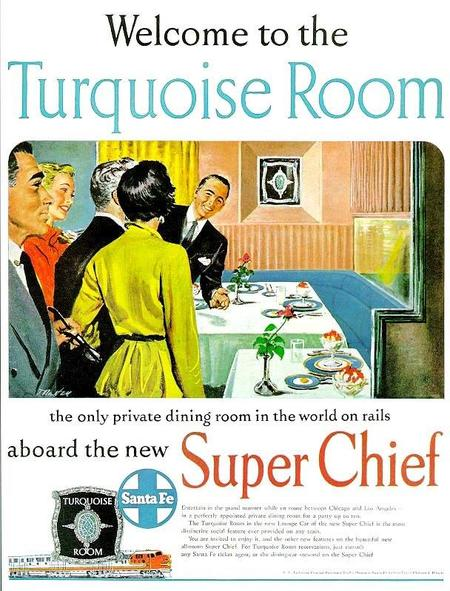 A 1951 Turquoise Room advertisement.