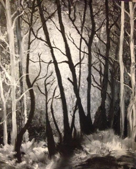 Eerie Night painted by Cindy Kennedy