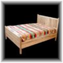 Bed made from reclaimed ponderosa pine