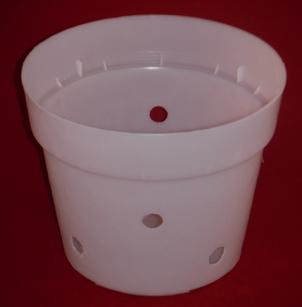 clear plastic orchid pot 8.5 inch round holes UV McConkey extra holes