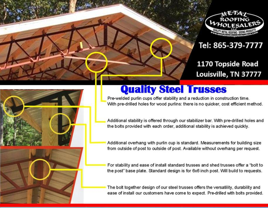 Steel Trusses Metal Roofing Wholesalers Knoxville Tn