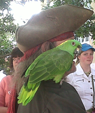 Pirate tours with parrot in Charleston