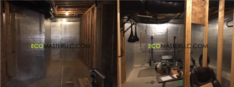 basement rigid wall board insulation by EcoMaster LLC