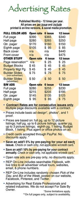 Real Estate Press, Southern Arizona rate card