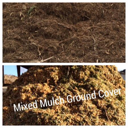 Mixed mulch ground cover