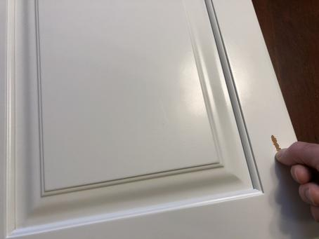 "Cabinet Door that was ""Just Painted Over"""