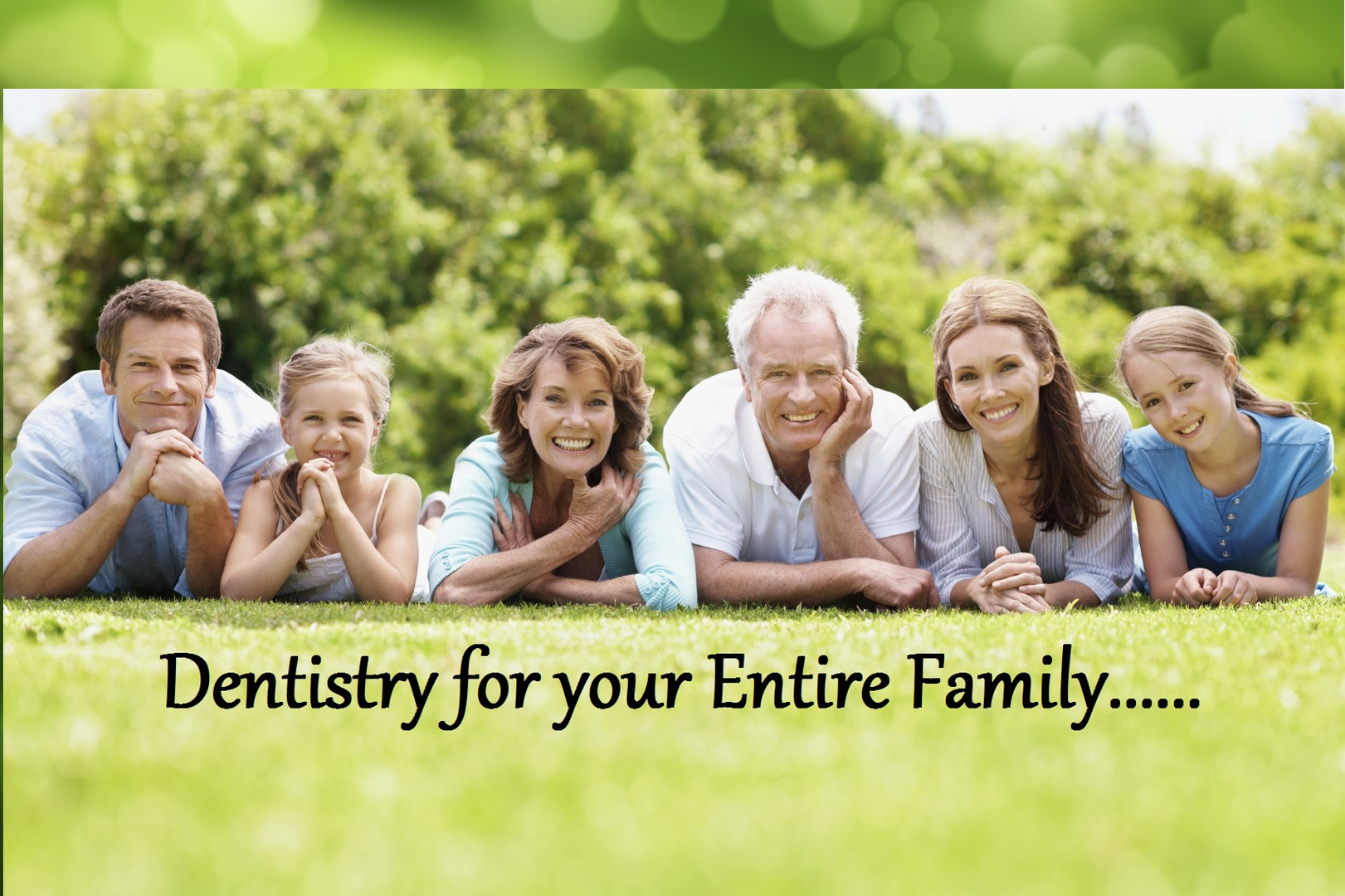 Image result for dentist would like to see your entire family