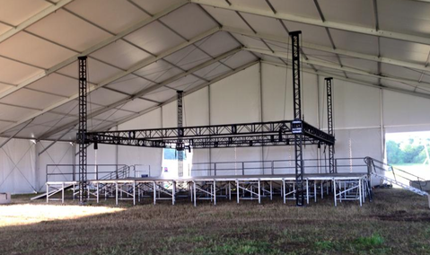 Truss Grids Amp Stages In Clear Span Tents