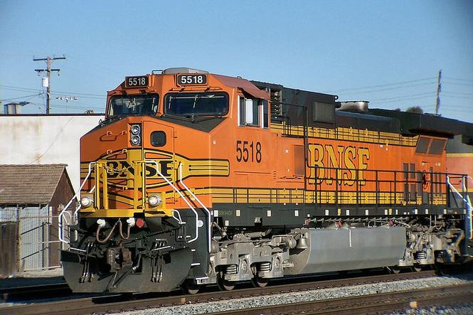 BNSF C44-9W No. 5518 at the Port of Long Beach, California, February 4, 2005.