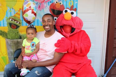 Elmo, Sesame Street style Character for children's parties and ‎toddler Birthday party