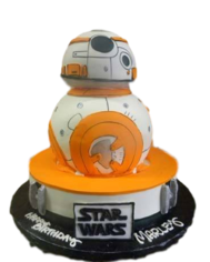 BB-8 Cake Custom Cakes Los Angeles Hansen's Cakes