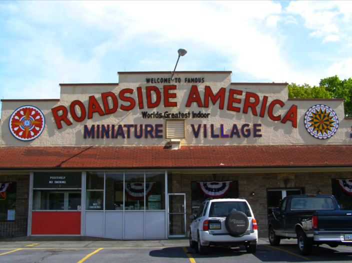 Exterior view of Roadside America in 2009.
