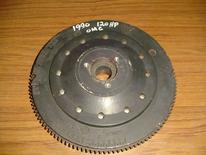 583428 Used flywheel for a 1990 120 hp Johnson or Evinrude outboard motor. OEM #583428