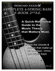 Complete 4-String Bass Interactive E-Book Fretboard Toolbox