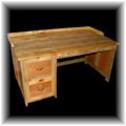 Desk made from beetle kill blue pine