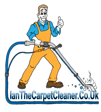 cartoon logo carpet cleaner guy