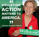Sen. Elizabeth Warren, Sen. Paul Wellstone's successor in progressive causes.