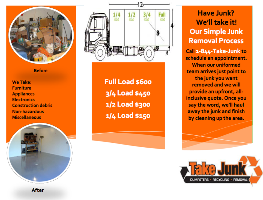 Junk Removal Pricing. Junk, Garbage, Waste, Rubbish, Trash, Hauling ...
