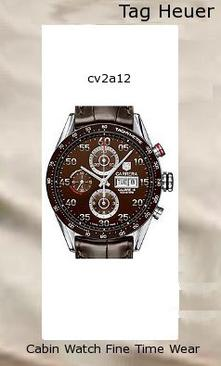 Watch Information Brand, Seller, or Collection Name TAG Heuer Model number CV2A12.FC6236 Part Number CV2A12.FC6236 Model Year 2011 Item Shape Round Dial window material type Scratch resistant sapphire Display Type Analog Clasp Fold-Over Clasp with Double Push-Button Safety Metal stamp None Case material Stainless steel Case diameter 43 millimeters Case Thickness 16 millimeters Band Material Leather Band length mens Band width 21.5 millimeters Band Color Brown Dial color Brown Bezel material Stainless steel Bezel function tachymeter Calendar Day and date Special features Luminous Movement Swiss automatic Water resistant depth 330 Feet,tag watches,tag heuer