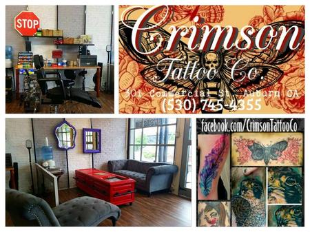 Crimson Tattoo Co. Office and Logo