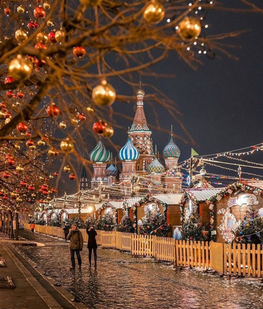 Moscow Christmas fair red square