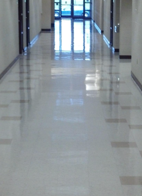 wichita cleaning services- cleaning an office building tile floor