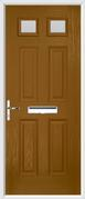 4 Panel 2 Square Composite Door obscure glass