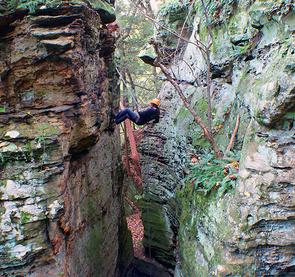 Rappelling in Hocking Hills