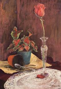 Legacy, still life pastel painting by Lindy C Severns