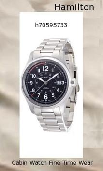 Watch Information Brand, Seller, or Collection Name Hamilton Model number H70595133 Part Number H70595133 Item Shape Round Dial window material type Scratch Resistant Sapphire Display Type Analog Clasp Deployment clasp with push-button Case material Stainless Steel Case diameter 40 millimeters Case Thickness 11.5 millimeters Band Material Stainless steel Band length Men's Short Band width 20 Band Color Silver Dial color Black Bezel material Fixed Stainless Steel Calendar Date Item weight 5.44 Ounces Movement Automatic