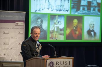 Major General Craig Lawrence speaking about Gurkhas at RUSI