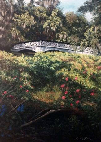 """Magnolia Bridge"", 30""x40"", $700"