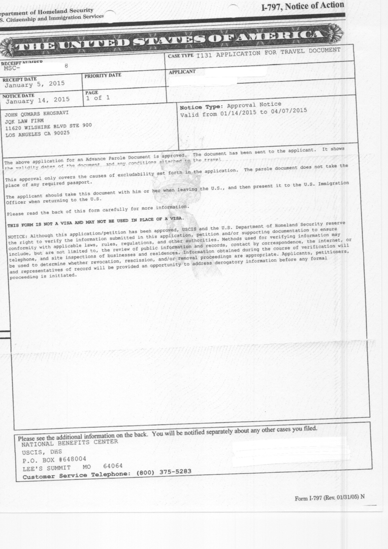 Samples Of Approved Immigration Cases Of The Jqk Law Firm