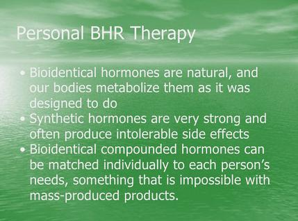 BHRT are Natural vs Synthetic are not