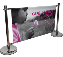 cafe barrier banner stand