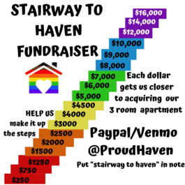 Stairway to HAven- a fundraiser for Haven House a 3 Bedroom apartment we can use for short term housing emergencies