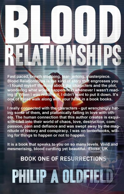 Psychological Thriller - Blood Relationships by Philip Oldfield - Author of cross genre and psychological thrillers with strong female protagonists.