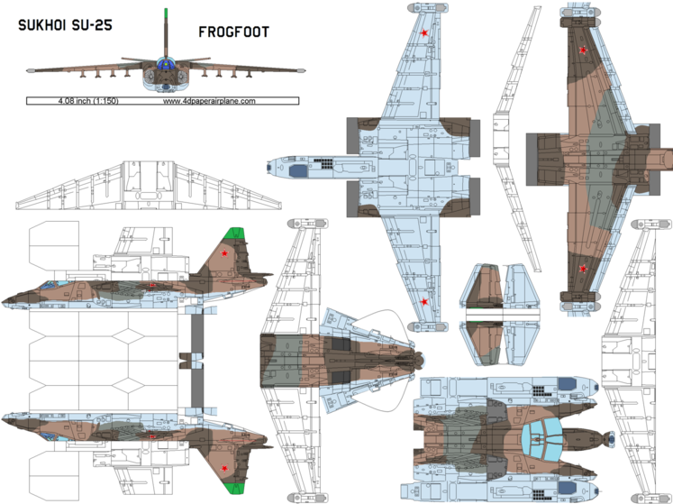 4D model template of Sukhoi Su-25 Frogfoot